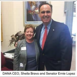 DANA CEO, Sheila Bravo and Senator Ernie Lopez photo