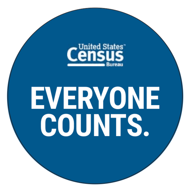 United States Census. Everyone Counts. Logo