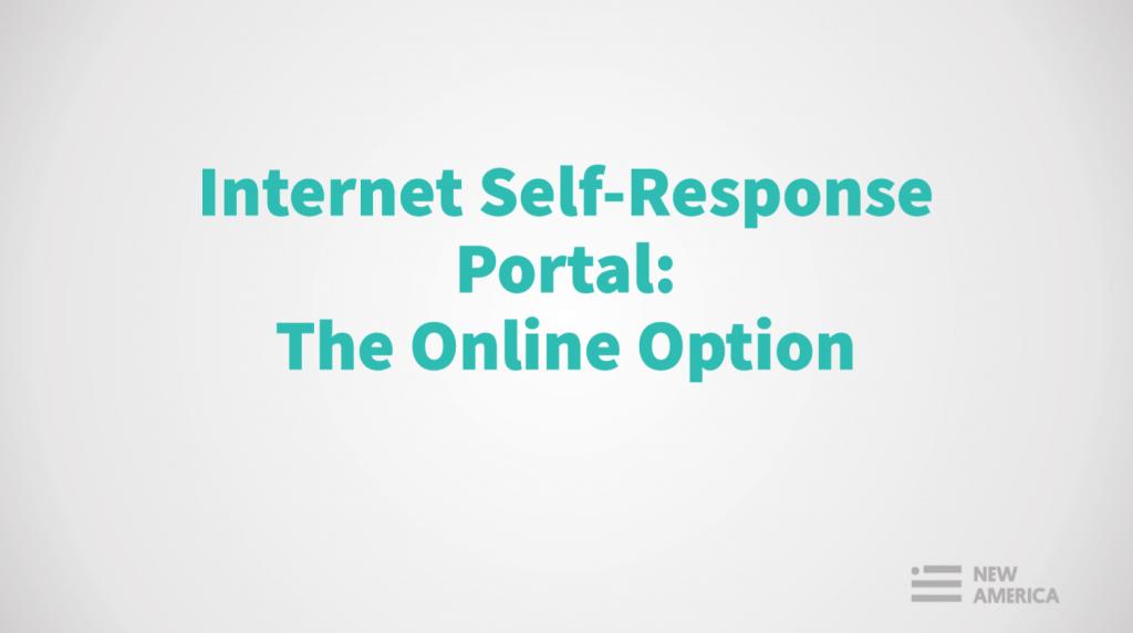 Powerpoint on Internet Self-Response Portal: Online Option